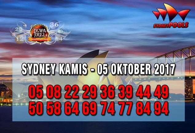 Prediksi Sydney Pools Kamis 05 Oktober 2017   Web Toto Naga303
