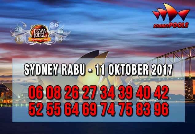 Prediksi Sydney Pools Rabu 11 Oktober 2017 | Web Toto Naga303